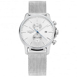 Tayroc TY1 TXM052 Iconic Silver Mesh Chronograph Men's Watch