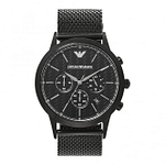 Armani AR2498 Black Mesh & Carbon Fibre Dial Men's Chronograph Watch
