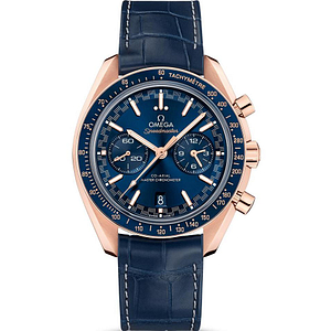 Omega Speedmaster Racing CO-Axial Master Chronometer Chronograph Sedna Gold On Leather Strap