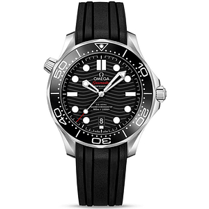 Omega Seamaster Diver 300M CO-Axial Master Chronometer 42mm Steel On Rubber Strap