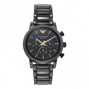 Armani AR1509 Rose Gold & Black Ceramic Chronograph Men's Watch