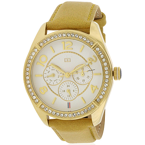 Tommy Hilfiger Gracie Tan Leather Ladies Watch 1781250