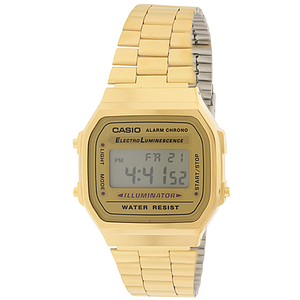 Casio Gold-Tone Stainless Steel  A168WG-9WDF