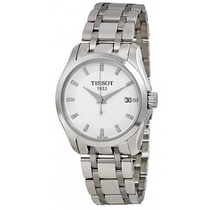 Tissot Couturier Stainless Steel Ladies Watch T0352101101600