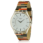 Swatch PATCHWORK Leather Unisex Watch SFM133