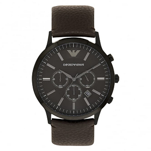 Armani AR2462 Sportivo Brown Leather Chronograph Mens Armani Watch