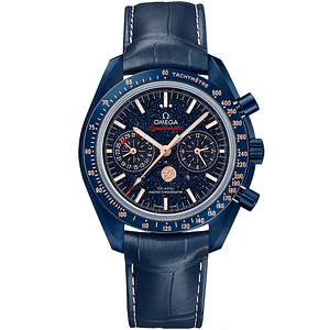 Omega Speedmaster Moonwatch CO-Axial Master Chronometer Moonphase Chronograph Blue Side Of The Moon