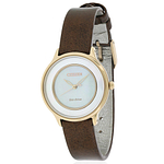 Citizen Eco-Drive Circle of Time Leather Ladies Watch EM0383-08D