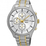 Seiko SKS541P1 Gold & Silver Stainless Steel Chronograph Men's Watch