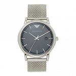 Armani AR11069 Grey Dial & Silver Mesh Men's Watch
