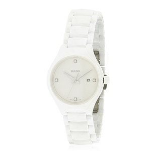 Rado True White Ceramic Ladies Watch R27061712