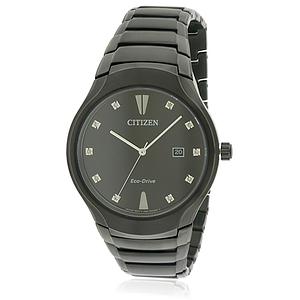 Citizen Eco-Drive Black Stainless Steel  AW1555-56G
