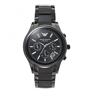 Armani AR1452 Mens Black Ceramica Chronograph Watch