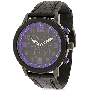 Citizen DRIVE BRT 3.0 Chronograph Black Leather Ladies Watch AT2235-00E