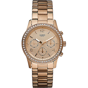 GUESS Rose Gold-Tone Ladies Watch W0122L3