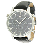 Tommy Hilfiger Black Leather Chronograph  1790875