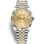 Rolex Oyster Perpetual Datejust 36mm Champagne Yellow Gold/Steel