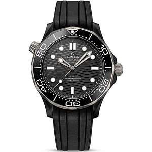 Omega Seamaster Diver 300M 43.5mm Black Ceramic On Rubber Strap