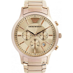 Armani AR2452 Mens Rose Gold Classic Watch