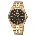 Seiko SNE044P9 Gold Stainless Steel Day/Date Watch