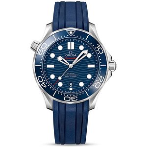 Omega Seamaster Diver 300M Master Chronometer 42mm Steel On Rubber Strap