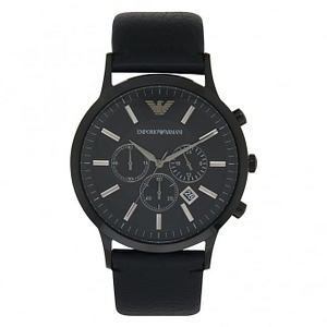 Armani AR2461 Black Leather Chronograph Men's Watch