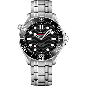 Omega Seamaster Diver 300M 42mm Steel On Steel Black