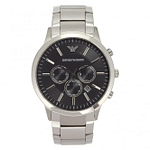 Armani AR2460 Stainless Steel Silver & Black Men's Watch