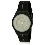 Swatch MY SILVER BLACK Silicone Ladies Watch SFB145