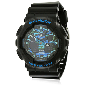 Casio G-Shock Black and Blue  GA100CB-1ACR