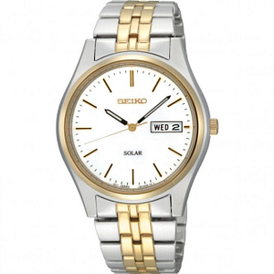 Seiko SNE032P1 Gold & Stainless Steel Solar Powered Men's Watch