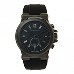 Michael Kors MK8152 Dylan Black Silicone Chronograph Men's Watch