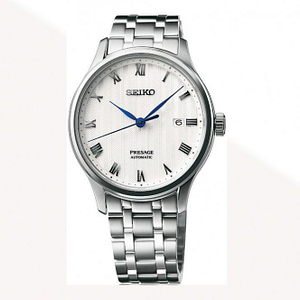 Seiko SRPC79J1 Presage White & Silver Stainless Steel Automatic Men's Watch