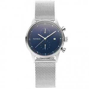 Tayroc TXM131 Boundless Silver & Blue Mesh Men's Watch