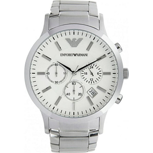 Armani AR2458 Gents Silver Stainless Steel Watch