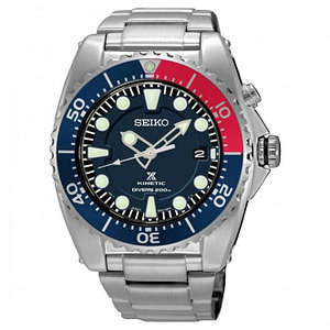 Seiko SKA759P1 Prospex Blue Dial & Silver Stainless Steel Kinetic Diver's Men's Watch