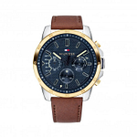 Tommy Hilfiger 1791561 Decker Blue and Brown Leather Men's Watch