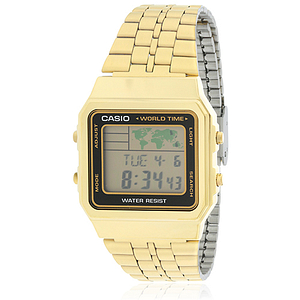 Casio Gold – Tone Digital Retro Alarm Chronograph A500WGA-1D