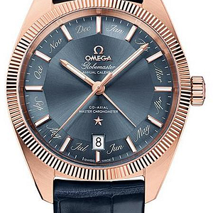 Omega Constellation Globemaster CO-Axial Master Chronometer Annual Calendar Sedna Gold