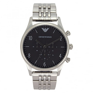 Armani AR1863 Mens Black & Silver Stainless Steel Watch
