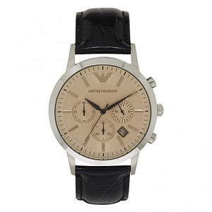 Armani AR2433 Armani Brown Leather Men's Watch