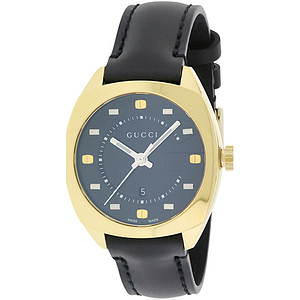 Gucci GG2570 Gold-Tone Leather Ladies Watch YA142408