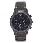 Armani AR2485 Men's Black Steel Bracelet Chronograph Watch