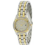 Citizen Eco-Drive Silhouette Two-Tone Crystal Ladies Watch EW2354-53P