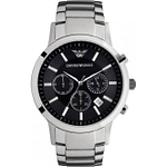 Armani AR2434 Classic Armani Stainless Steel Mens Chronograph Watch