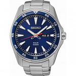 Seiko SNE391P1 Blue & Silver Stainless Steel Solar Powered Men's Watch