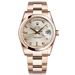 Rolex Oyster Perpetual Day-Date 36mm Ros? Gold with Diamonds