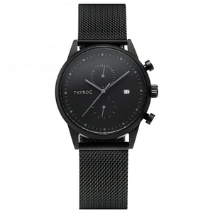 Tayroc TY4 TXM085 Black Mesh Chronograph Men's Watch