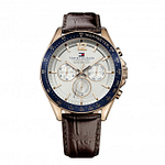 Tommy Hilfiger 1791118 Blue and Brown Leather Men's Watch