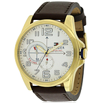 Tommy Hilfiger Gold-Tone Leather Chronograph  1791003